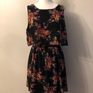 Emerald Sundae Black Floral Dress
